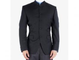 Navy Blue Printed Blazer