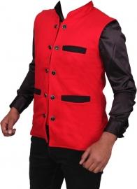 Black Chip Solid Party Men's Nehru Jacket