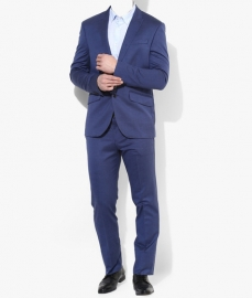 Blue Solid Suitings