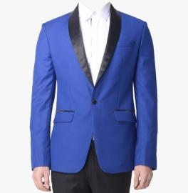 Blue Solid Blazer