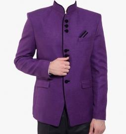Purple Solid Blazer