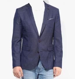 Light Blue Solid Blazer
