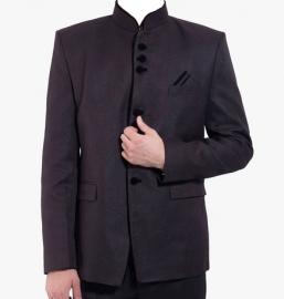 Black Solid Blazer