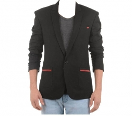 Design Black Casual Blazers