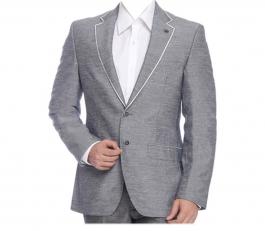 Grey Solid Formal Blazers