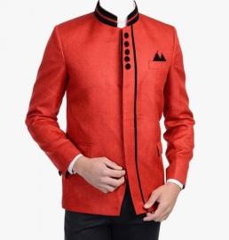 Orange Solid Blazer