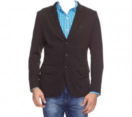Black Lapel Collar Blazer