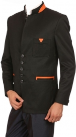 Solid Single Breasted Party Men's Blazer