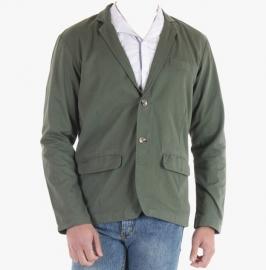 Olive Solid Regular Fit Blazer