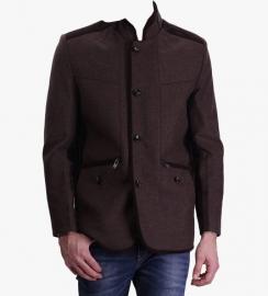 Brown Solid Blazer