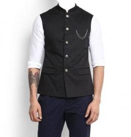 Lack Nehru Jackets Casual Sleeveless Jacket