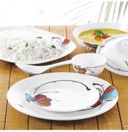 Borosil 35 Piece Melamine Dinnerset Fidenza Round - Vibgyor