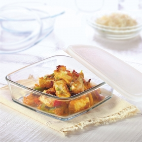 Square Dish With Lid-1.6 L