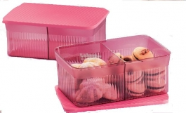 Tupperware Two Compartment Snack It