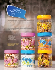 Household Plastic Jar 900ml ( 1pc Jar )