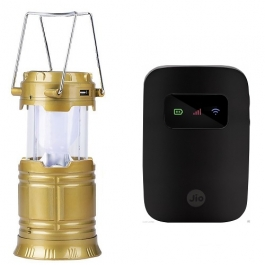 Combo Jio 4g Mifi Usb Portable Router With Hotspot And Ya- 5800t Camping Lantern Solar Led Torch Emergency Lighting