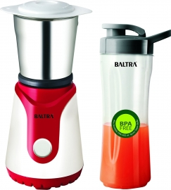 Baltra Winner Plus Bmg-127 350-watt Mixer Grinder With 2 Jars (white And Red)