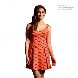 Bollywood Orange Dress