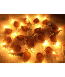 Skycandle Brown Led Diya Light