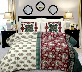 Lively Multi Design Flower Double Bed Sheet