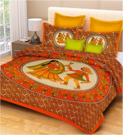 Cotton Rajasthani Double Bed Sheets
