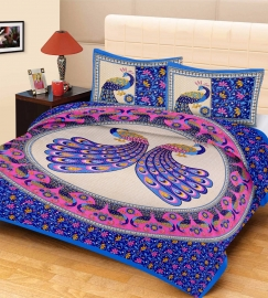Lively New Bed Sheet For Your  Home! Make Your Home Beautiful Best New Peacock Antique Design