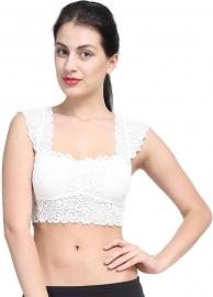 Kavjay Women's Bralette White Bra