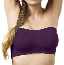 Kavjay Women's Tube Purple Bra