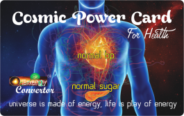 Cosmic Power Card For Health