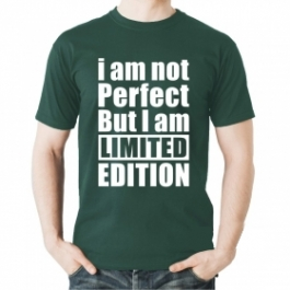 I Am Not Perfect But I Am Limited Edition Round Neck White T-shirt