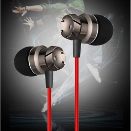 Ptron High Quality Earphone Metal Bass Headphone With Mic