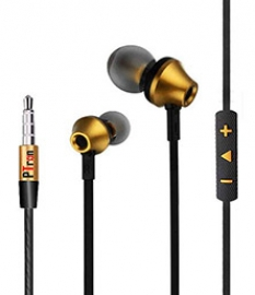 Ptron Hbe9 Headphone In Ear Earphone With 3.5mm Jack (gold)