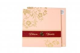 Wedding Invitation Card Pink Wedding Invitation Pack Of 100