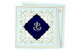 Wedding Invitation Card Sky Blue Wedding Invitation Pack Of 100