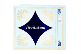 Wedding Invitation Card Sky Blue Wedding Invitation Pack Of 100