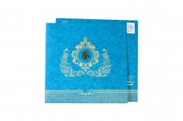 Wedding Invitation Card Blue Wedding Invitation Pack Of 100