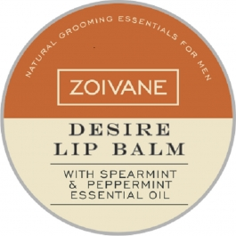 Zoivane Men Desire Lip Balm For Couples, Uplifts Mood, Moisturizing ,no Shine Lip Care, Easy To Carry. 100% Natural , No Preservatives And No Parabens , 8g