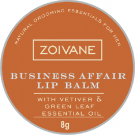 Zoivane Men Business Affair Lip Balm Urban Men. Moisturizing, Relaxing, No Shine Lip Care,easy To Carry. 100% Natural , No Preservatives And No Parabens , 8g