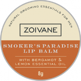 Zoivane Men Smoker's Paradise Lip Balm For Dark Lips. Moisturizing ,no Shine Lip Care, Easy To Carry. 100% Natural , No Preservatives And No Parabens , 8g
