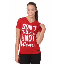 Crush Fitness Women Cotton Dont Tell Me Red T-shirt