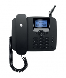 Motorola Fw200l Fixed Wireless Gsm Landline Phone - Black
