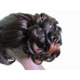 Fancy Highlighted Messy Hair Bun For Ladies