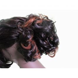 Jio Wig Fancy Highlighted & Curly Messy Hair Bun For Ladies