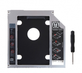 Sata 2nd Hdd Caddy Tray For 9.5mm Universal  For Hard Drive.