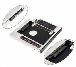 Sata 2nd 2.5'' Hard Drive Caddy To Fit In 12.7mm Universal Cd/dvd-rom
