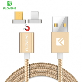 Floveme 2 In 1 Usb Magnetic Data Charging Charger Cable For Iphone,android