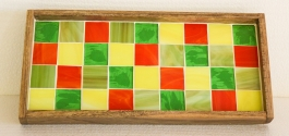Barish Mosaic Tray (colored Squares)
