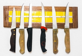 Barish Magnetic Knife Holder (yellow)