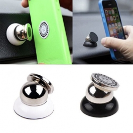 360 Degree Rotating Magnetic Car  Mount Holder For All Phone Sizes, Mobile, Tablet Or Gps (silver)