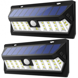 Aes 30 Led Wide Angle Solar Wall Light With Motion
